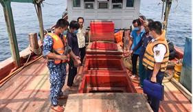 Đoàn Trinh sát số 2 bắt giữ tàu chở trên 100.000 lít dầu DO không rõ nguồn gốc