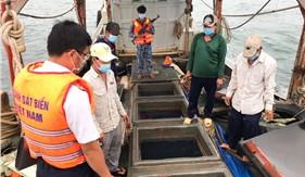 Đoàn Trinh sát số 2 bắt giữ tàu vận chuyển 50.000 lít dầu DO không hóa đơn, chứng từ hợp pháp