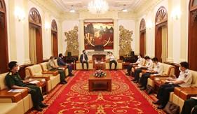 Tư lệnh Cảnh sát biển Việt Nam gặp và làm việc với Tham tán Công sứ Malaysia