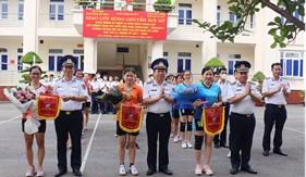 Giao hữu bóng chuyền hơi nữ chào mừng Ngày Thành lập Lực lượng Cảnh sát biển Việt Nam (28/8)