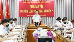 Chính ủy Cảnh sát biển làm việc với Bộ Tư lệnh Vùng Cảnh sát biển 2
