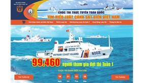"""Cuộc thi """"Tìm hiểu Luật Cảnh sát biển Việt Nam"""" thu hút 99.460 người tham gia trong đợt thi Tuần 1"""